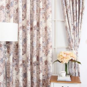 ( One Panel ) Country Style Print Coffee Polyester Room Darkening Curtains  ML9150