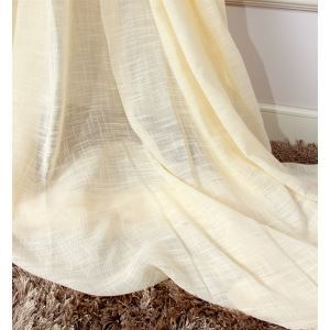 ( One Panel ) Contemporary Creamy White Polyester Sheer Curtains-MLS9078