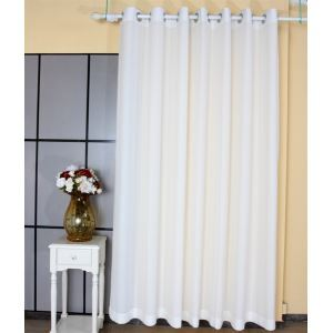 ( One Panel ) Contemporary White Polyester Sheer Curtains-MLS9086