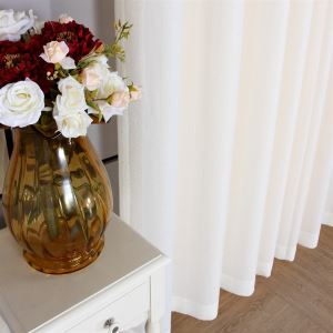( One Panel ) Contemporary White Polyester Sheer Curtains-MLS9091
