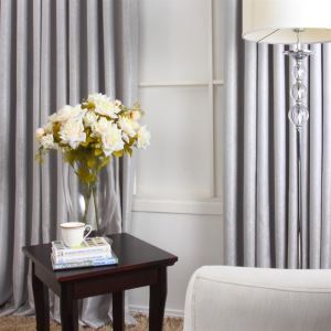 ( One Panel ) Contempory Grey Polyester Weaving Room Darkening Curtains-MLS9131