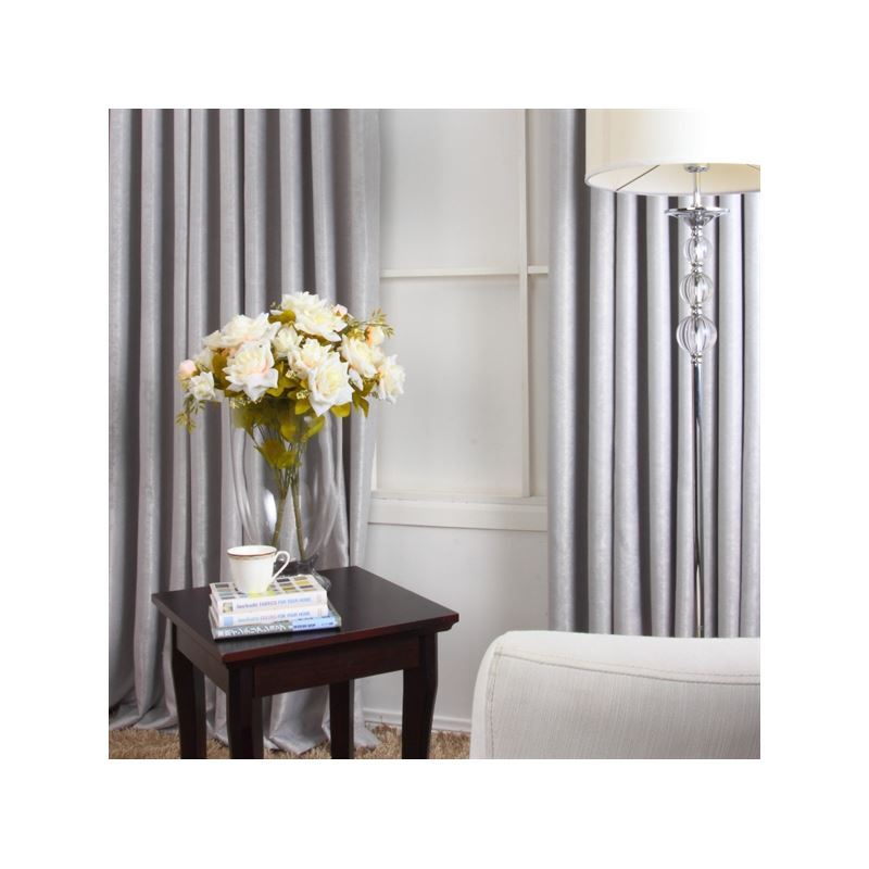 Curtains Blackout Curtains One Panel Contempory Grey Polyester Weaving Room Darkening