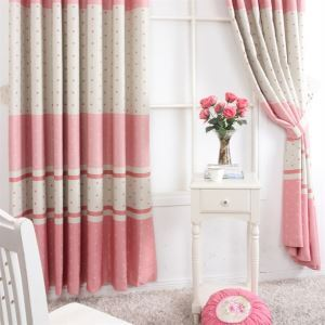 ( One Panel ) Contemporary Print Stripe Pattern Red and Grey Polyester Blackout Curtains-MLS9158
