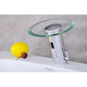 Automatic Infared Sensor Waterfall Bathroom Washbasin Basin Faucet