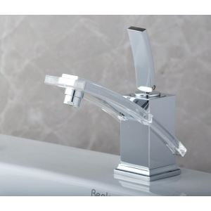Contemporary Brass Waterfall Bathroom Sink Faucet