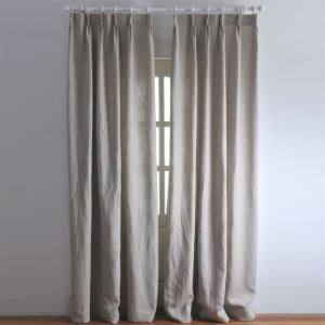 ( One Panel ) Modern Solid Nature Linen Room Darkening Curtains-2040