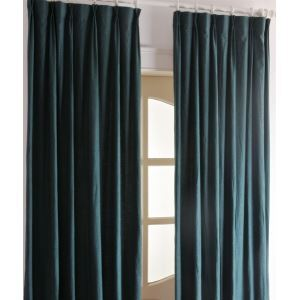 ( One Panel ) Contemporary Solid Conifer Green Blackout Curtains-2037