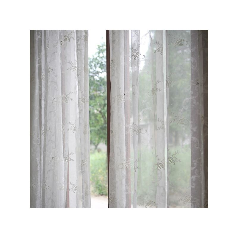 Curtains Sheer One Panel Modern Floral