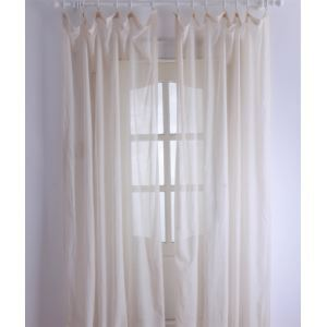( One Panel ) Modern Solid Beige Sheer Curtains-2048