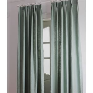 ( One Panel ) Country Solid Green Room Darkening Curtains -2044