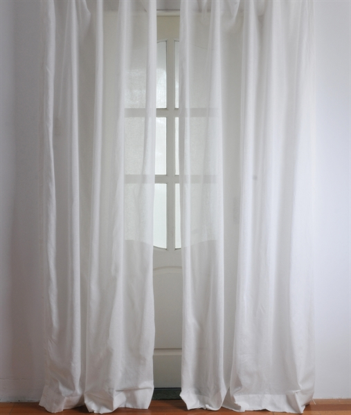 Curtains Sheer Curtains One Panel Modern Solid
