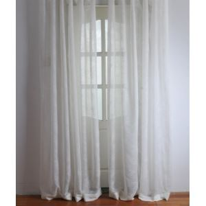( One Panel ) Modern  Floral White Jacquard Polyester Sheer Curtains-2056