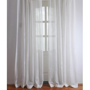 ( One Panel ) Modern Floral White Jacquard Polyester Sheer Curtains-2057