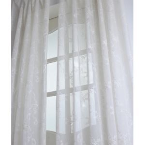 ( One Panel ) Modern Floral White Jacquard Polyester Sheer Curtains-2058
