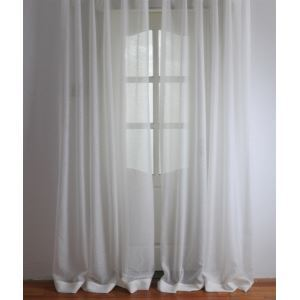 ( One Panel ) Modern Solid White Embossed Polyester Sheer Curtains-2061
