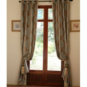 ( One Panel ) Rococo Novelty khaki Jacquard Poly  Room Darkening Curtains-805