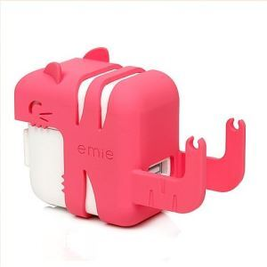 iCat Cute Kitty Mobile Phone Universal Charger Protective Shell and Phone Holder
