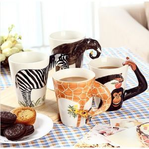 Pure Hand-painted Ceramic Animal Mug