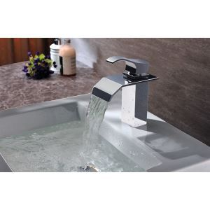 Modern Contemporary Waterfall Basin Faucet With Single Handle Bathroom Taps (MS107)