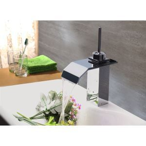 Modern Contemporary Waterfall Basin Faucet With Single Lever Bathroom Taps (MS108)