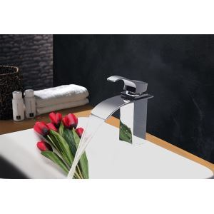 Modern Contemporary Waterfall Basin Faucet With Single Handle Bathroom Taps (MS109)