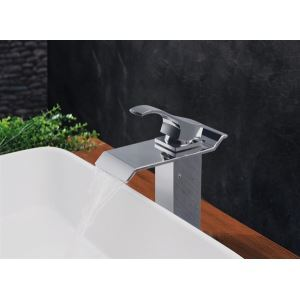 Modern Contemporary Waterfall Basin Faucet With Single Handle Bathroom Taps (MS111)