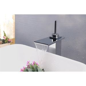 Modern Contemporary Waterfall Basin Faucet With Single Lever Bathroom Taps (MS117)