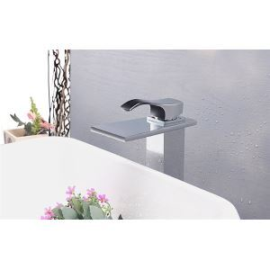 Modern Contemporary Waterfall Basin Faucet With Single Handle Bathroom Taps (MS118)