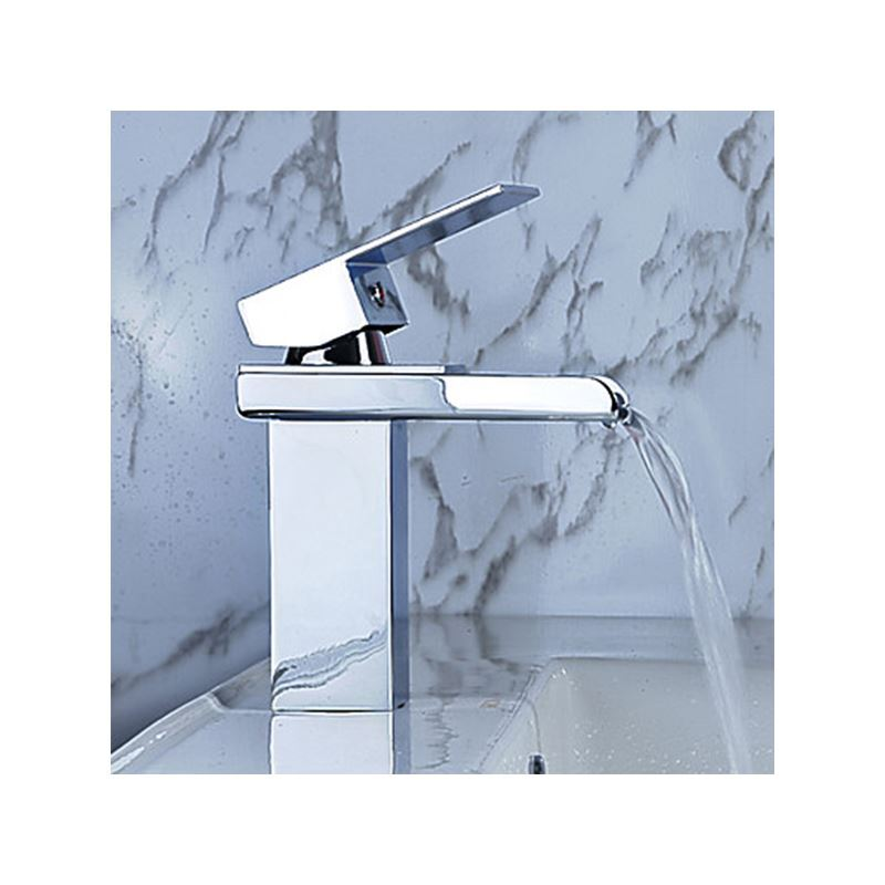 Bathroom sink faucet in modern style single handle for Modern chrome bathroom faucets