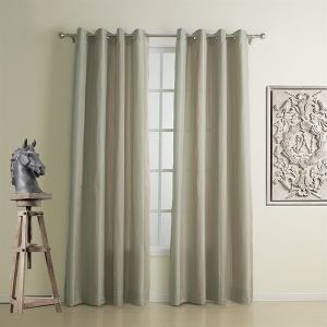 ( One Panel )  Neoclassical Jacquard Beige Stripe High-precision Polyester Energy Saving Curtains-1311