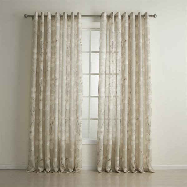Sheer Curtains With Pattern Quotes
