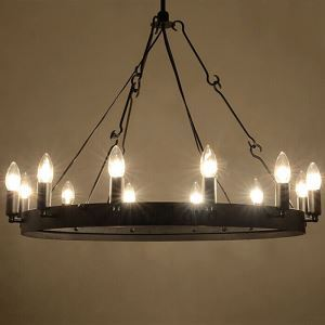 60W E12/14 Retro Style Iron Pendent Light with 12 Lights in Candle Feature