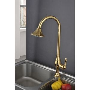 Antique Brass Titanium Kitchen Faucets (HM3019)