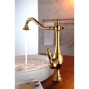 Solid Brass Antique Titanium  Kitchen Faucets (HM3017)