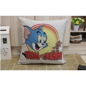 Vintage Cartoon Linen & Cotton Cushion/Pillow Cover