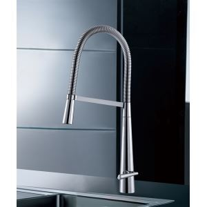Contemporary Solid Brass Chrome Finish Single Handle Kitchen Faucet