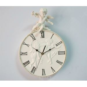 Old Style Angel Resin Mute Wall Clock