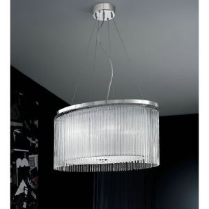 Pendant Lights with 4 Lights in Fabric Shade G9 Bulb Base