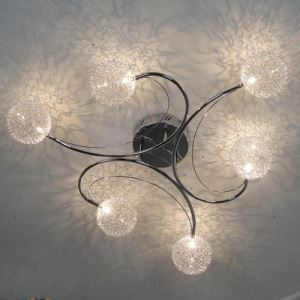 Artistic Flush Mounted  Aluminum Ceiling Light with 6 Lights