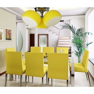 Modern Chandelier with 3 lights in Lemon Pattern Ceiling Light