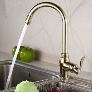 Modern Rotatable Solid Brass Kitchen Faucet