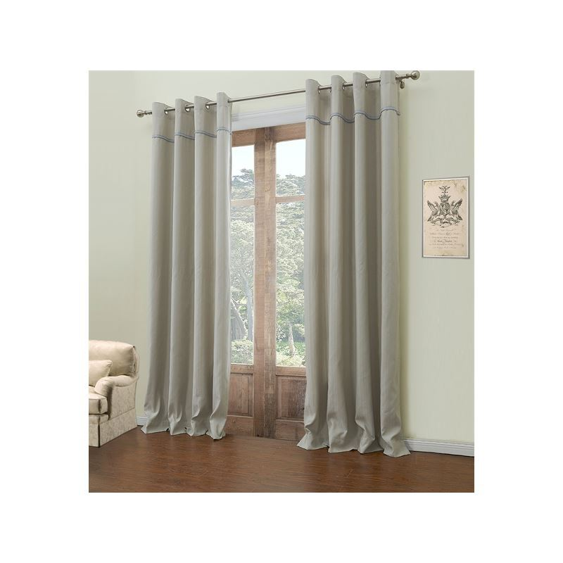 curtains room darkening curtains one panel rococo grey blue