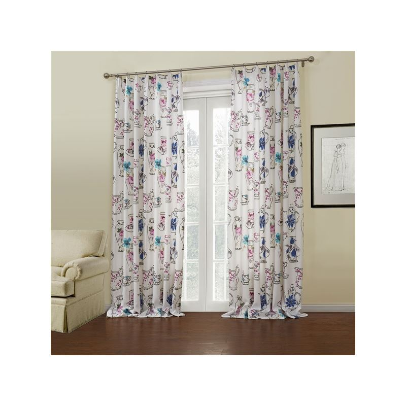 Curtains Energy Saving Curtains One Panel Modern White Floral Pattern Polyester Room