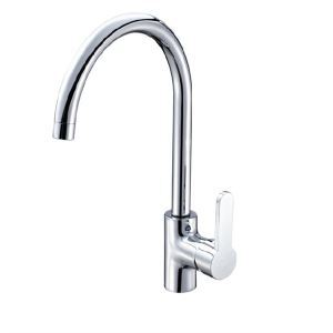 Solid Brass Rotatable Kitchen Faucet - Chrome Finish