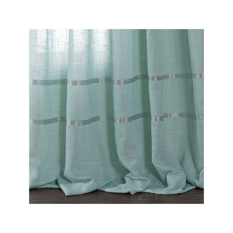 Sheer Kitchen Curtains Light Blue