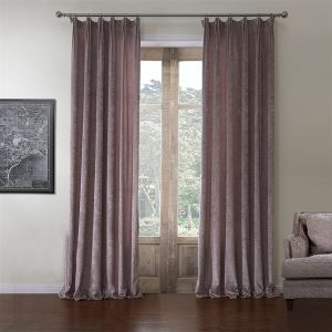 ( One Panel )  Rococo Solid Pattern Polyester & Cotton Room Darkening Curtains-580