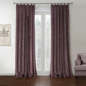 ( One Panel )  Modern Purple Solid Pattern Polyester & Cotton Blackout Curtains-581