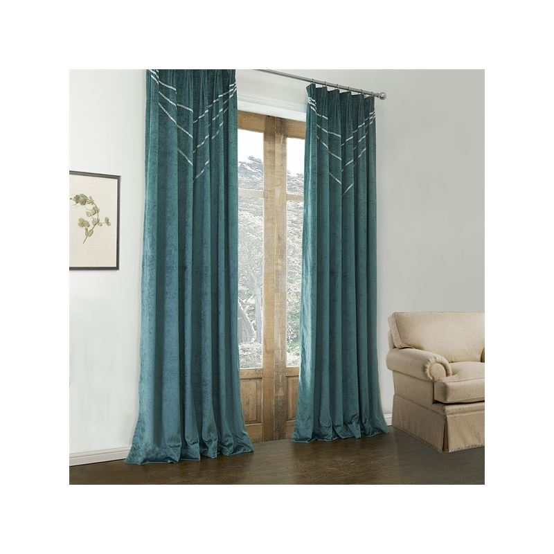 Curtains - Blackout Curtains - ( One Panel ) Modern Dark Green ...