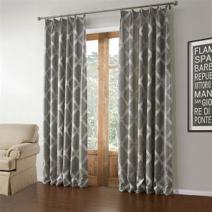 Greek Key Trim Curtains Light Room Darkening Curt