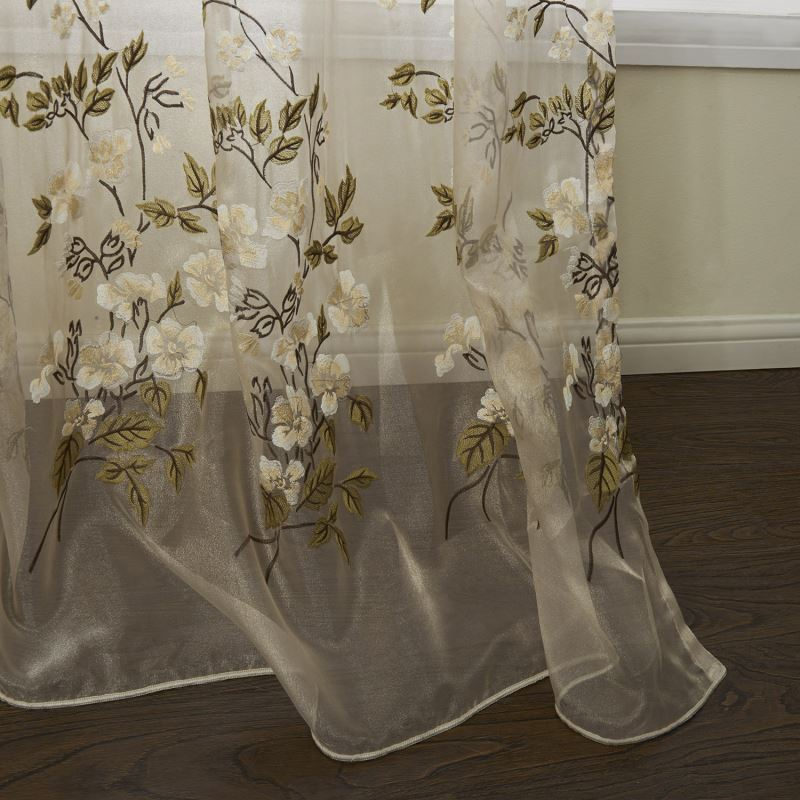 Out Of Stock One Panel Country Embroidered Beige
